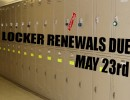 Renew Your Lockers by May 23rd