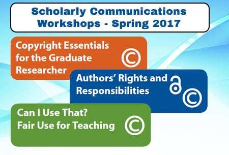 scholarly communication workshops 2017 grphic
