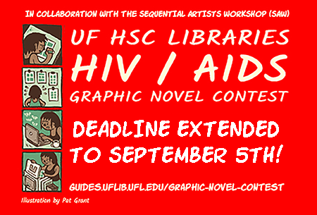HIV/AIDS graphic novel contest slide