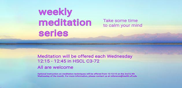 Weekly Meditation Series image