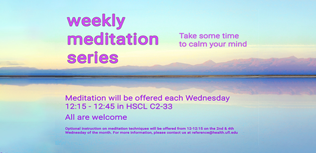 weekly meditation series