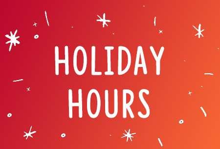 Holiday Hours slide