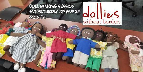 Dollies Without Borders, doll making session slide