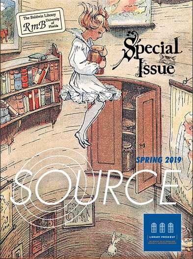 Source magazine cover - alice in wonderland theme