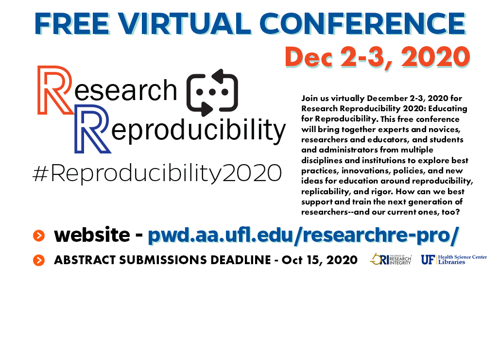 Research Reproducibility promotional slide